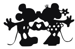 296x193 Svg, Disney, Kissing Mickey And Minnie, Kissing Mickey And Minnie