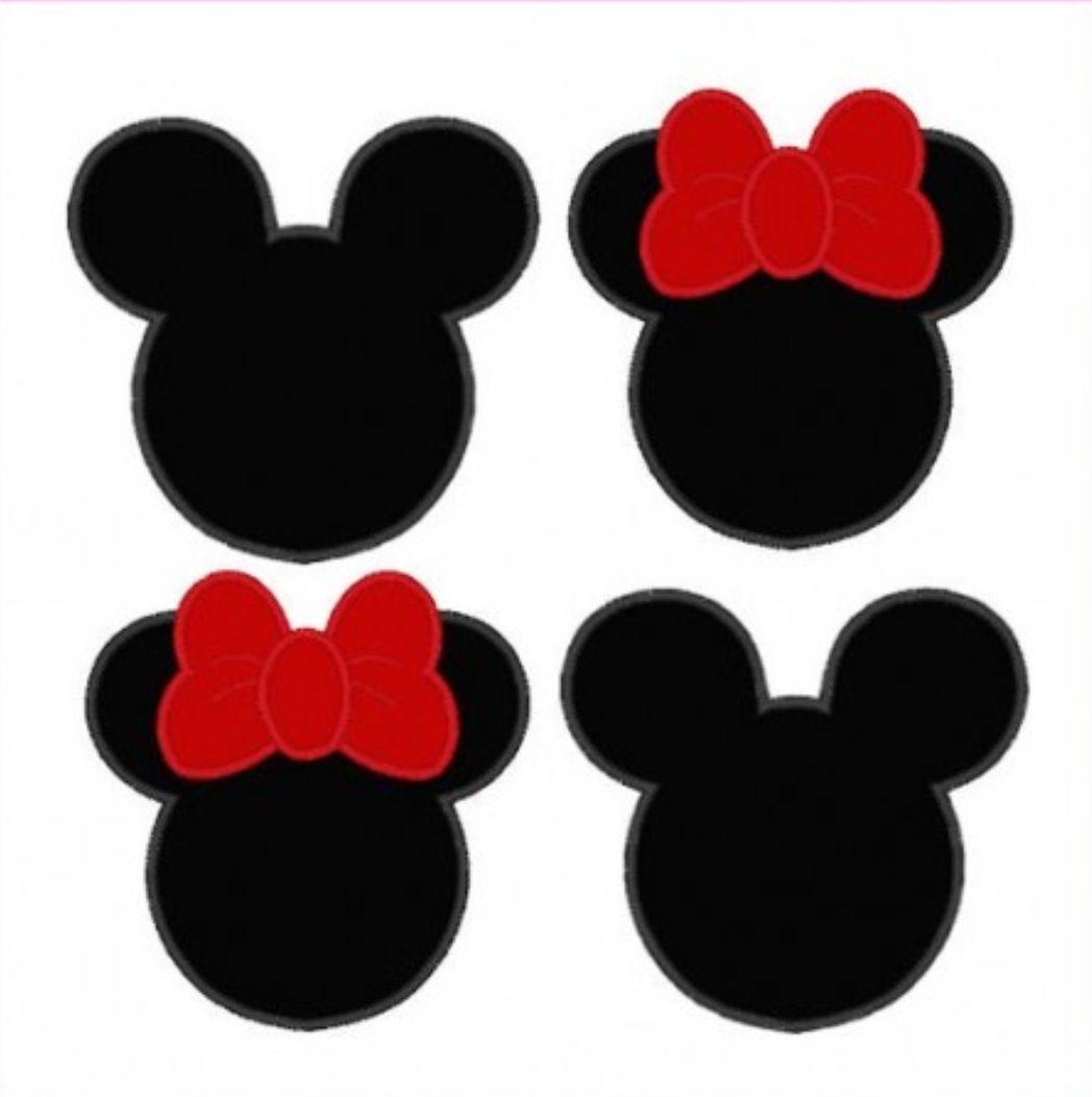 1048x1053 Minnie amp Mickey Mouse Silhouettes Moldes cajitas de carton