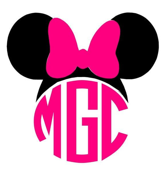 570x601 Mickey Mouse Monogrammed Shirts Elegant Minnie Mouse Ears