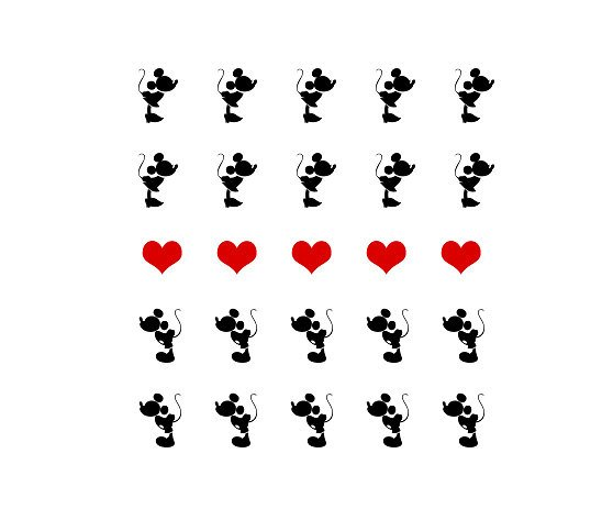 558x473 Mickey Mouse And Minnie Mouse Kissing Silhouette With Heart Nail