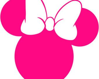 340x270 Minnie Mouse Head Silhouette Walt Disney Disneyland World Decal