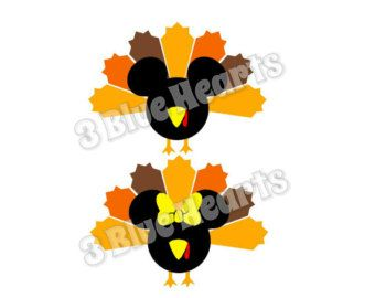 340x270 Thanksgiving Mickey Head, Thanksgiving Minnie Head Svg Dxf Pdf Jpg