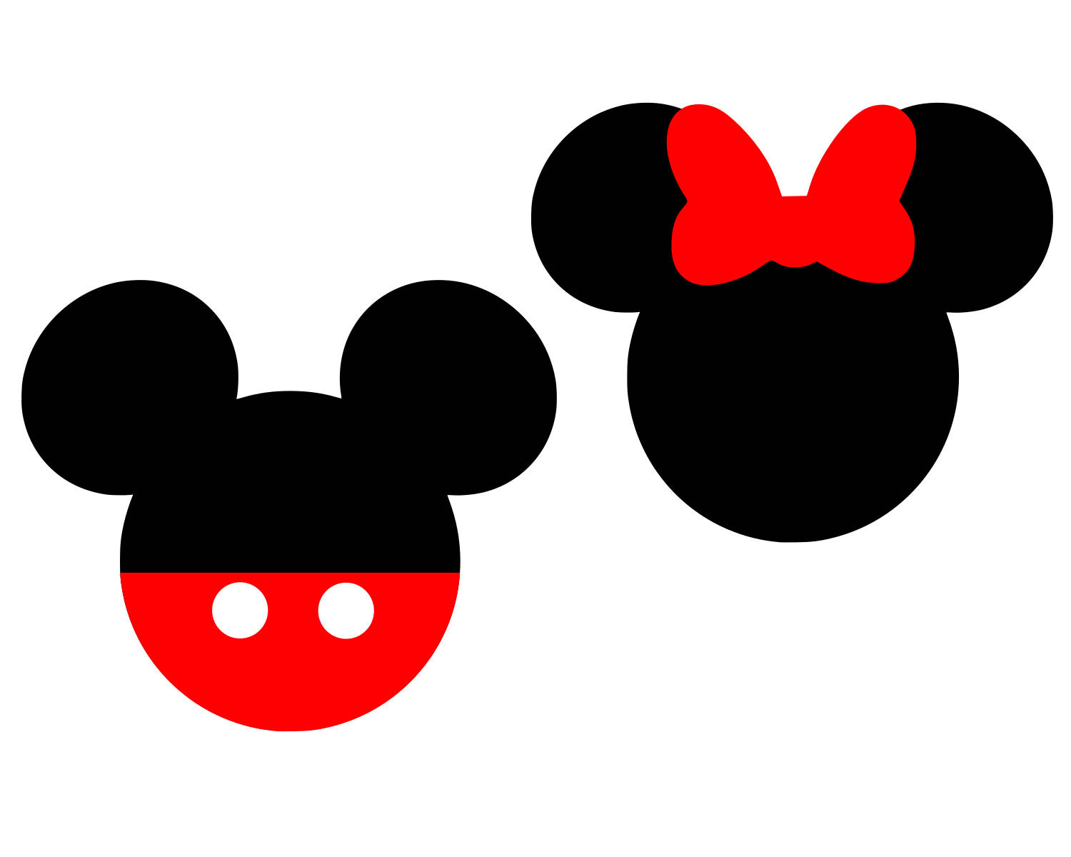 1500x1200 Mickey Mouse Svg Disney Svg Minnie Mouse Svg Bow Svg Monogram