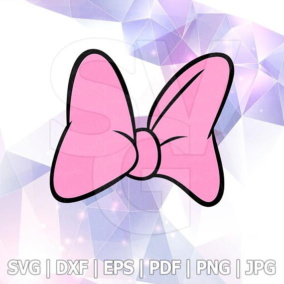 570x570 Minnie Mouse Pink Bow Layered Svg Dxf Eps Vector Silhouette Cricut