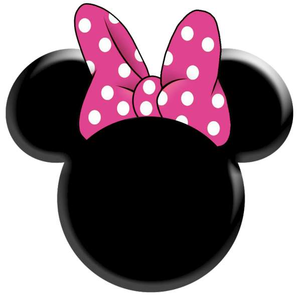 600x596 Fresh Idea Minnie Head 30 Images Of Mouse Template With Bow