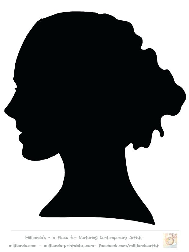 618x824 Head Silhouette Printable Library O Cute Coloring Minnie Mouse