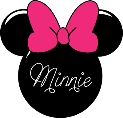 400x385 Minnie Mouse Face Silhouette Vector