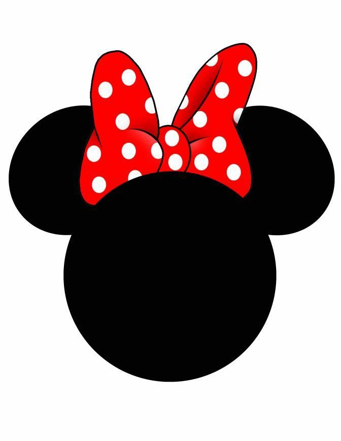 Minnie Mouse Head Silhouette