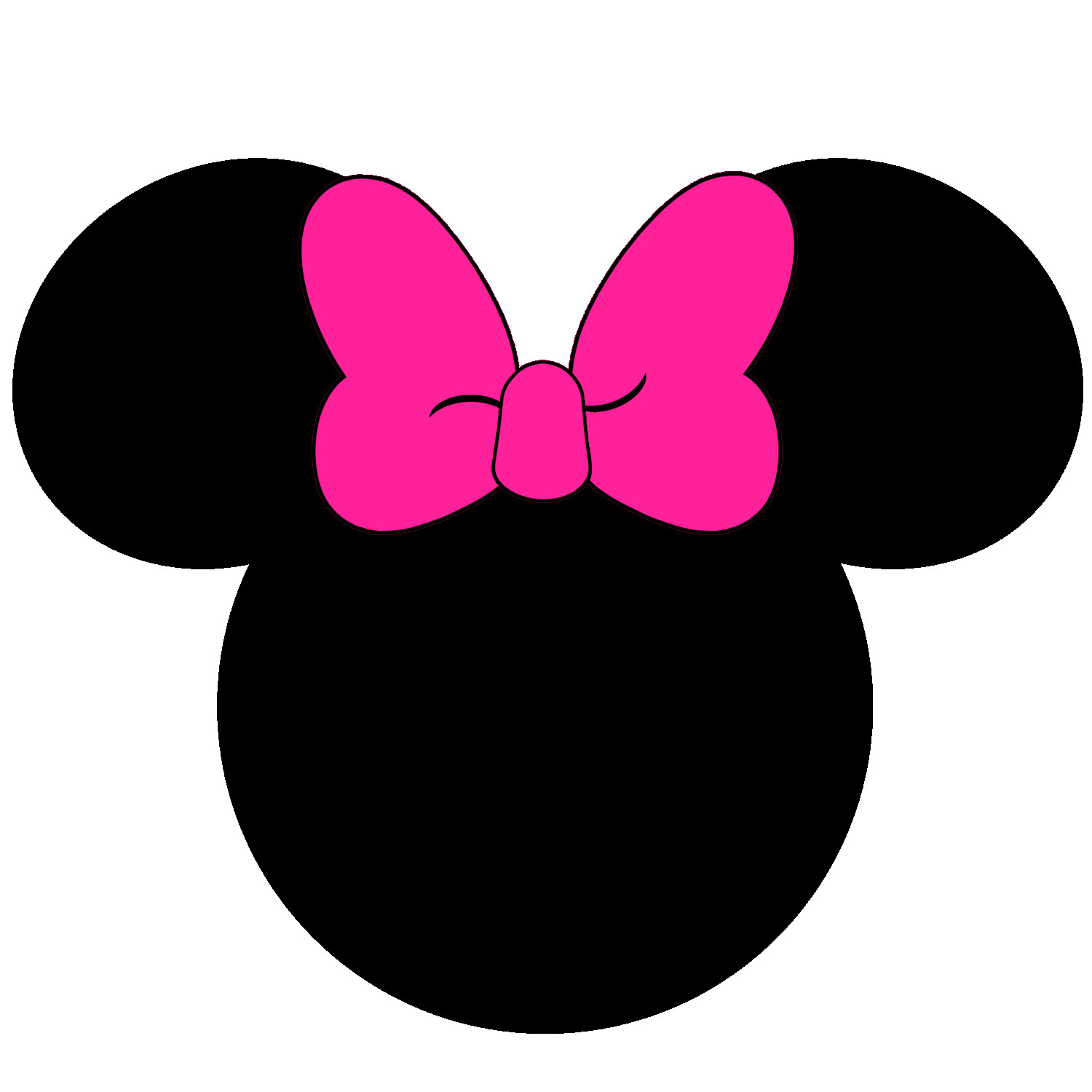 picture relating to Mickey Mouse Printable Cutouts identified as Minnie Mouse Intellect Silhouette at  No cost for