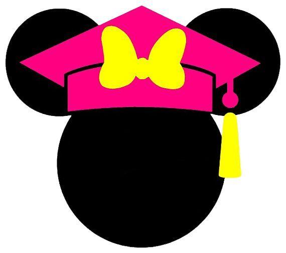 570x504 Minnie Mouse Head Silhouette Clip Art Graduation 2016