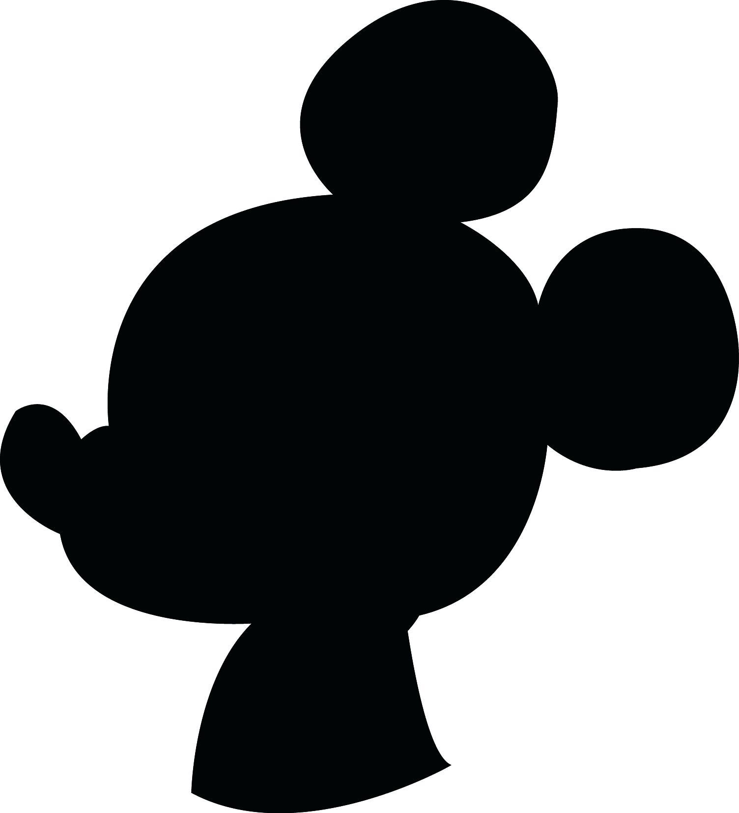1504x1654 printable Minnie Mouse Head Silhouette Printable