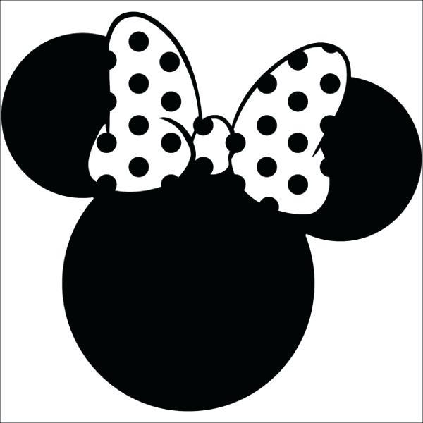 600x600 Printable Minnie Mouse Head