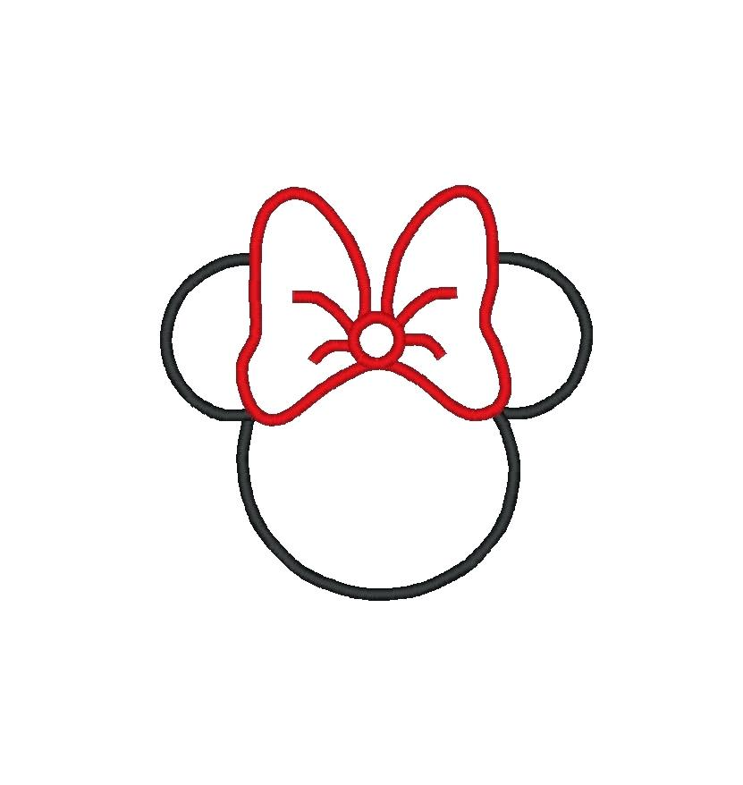 image regarding Printable Mickey Mouse Ears referred to as Minnie Mouse Brain Silhouette Printable at