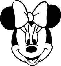 Minnie mouse head silhouette printable at getdrawings free for 216x233 moldes de la cara de minnie mouse ideas y material gratis para maxwellsz