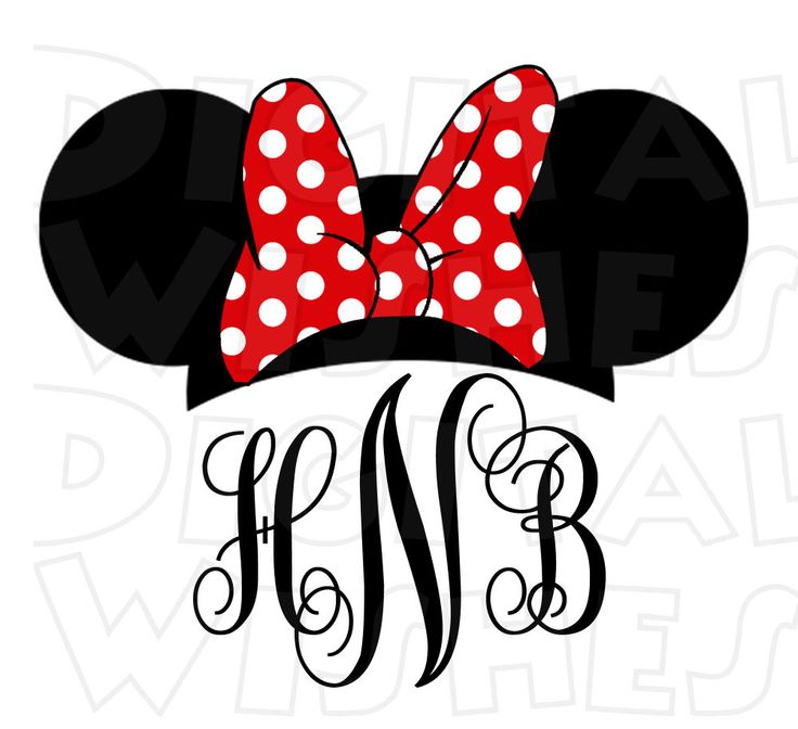 photo relating to Printable Minnie Mouse Ears referred to as Minnie Mouse Thoughts Silhouette Printable at