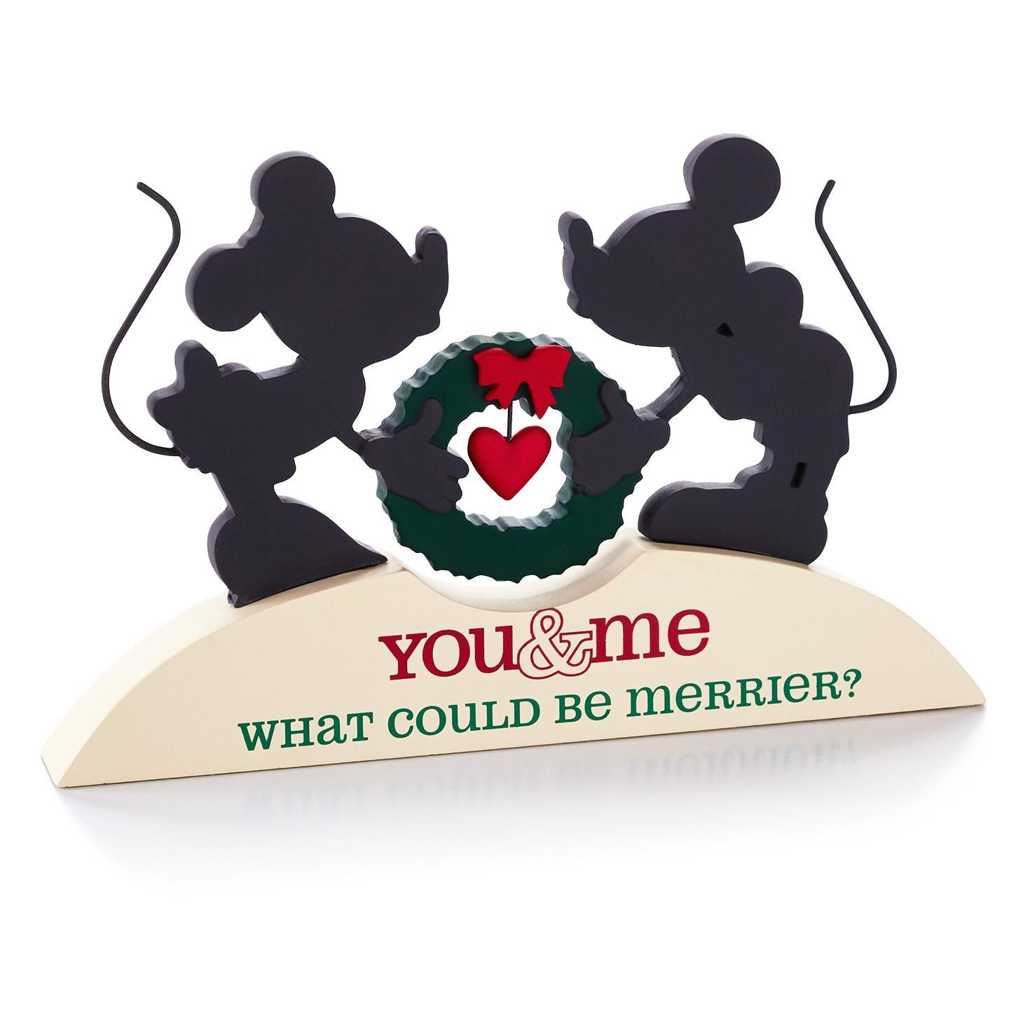 1470x1470 Mickey Mouse and Minnie Mouse Silhouette Plaque, , large