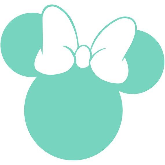 570x570 Minnie Mouse Head Silhouette Walt Disney Disneyland World