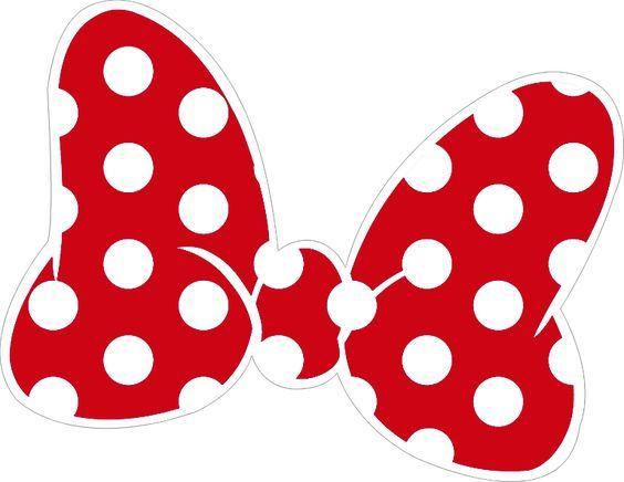 564x436 Lazo De Color Blanco Y Rojo Para Imprimir Lazo Minnie Mouse Para