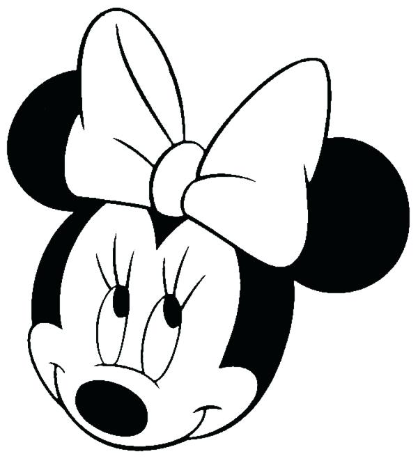 600x662 Mickey Head Outline