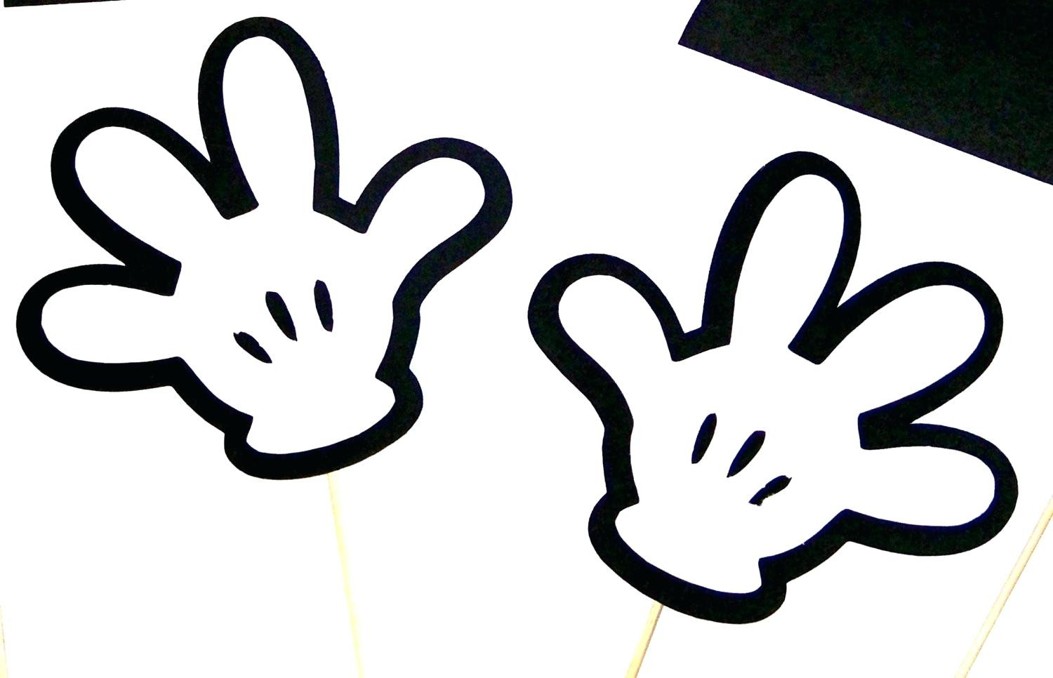 It is a graphic of Mickey Mouse Head Printable Cutouts regarding figuras