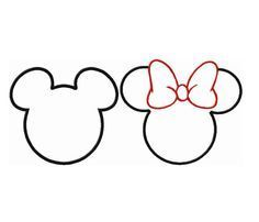 236x202 Printable Minnie Mouse Outline Style Minnie