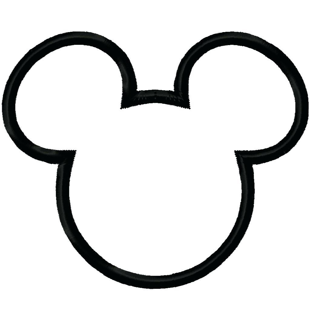1024x1024 Printable Minnie Mouse Head Silhouette Printable