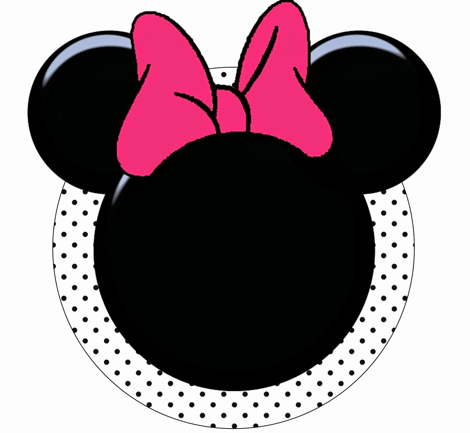 1600x1475 Funny Pink Minnie Mouse Free Printable Kit. Oh My Fiesta! In English