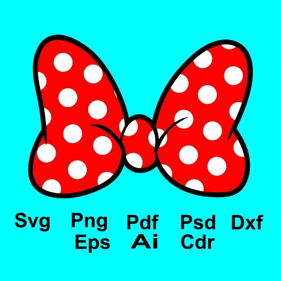 570x570 Minnie Mouse Bow Svg, Minnie Mouse Clipart, Minnie Mouse Dxf, Png