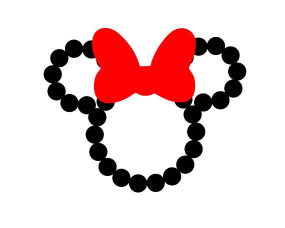 570x456 Minnie Mouse Outline Svg Disney Svg Minnie Mouse Svg Bow Svg