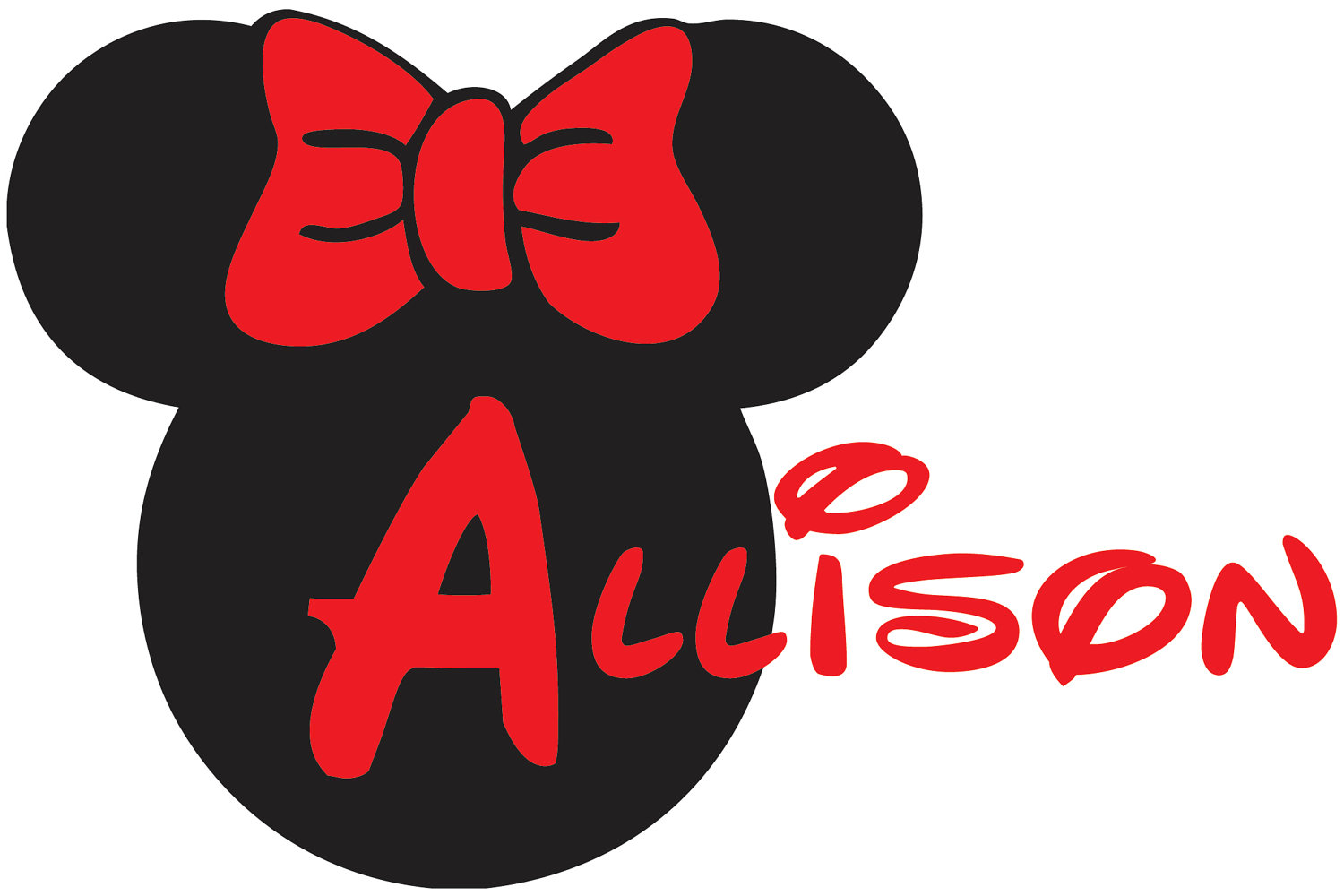 1500x1000 Minnie Mouse Silhouette Free Download Free Minnie Mouse Bow