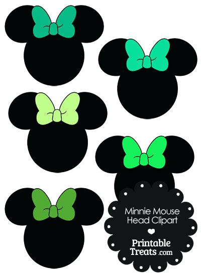 400x550 Mouse Head Images Mouse Head With Green Bows From Minnie Mouse