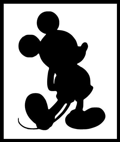389x458 Mickey Mouse Red Silhouette Minnie Mickey Clipart Library