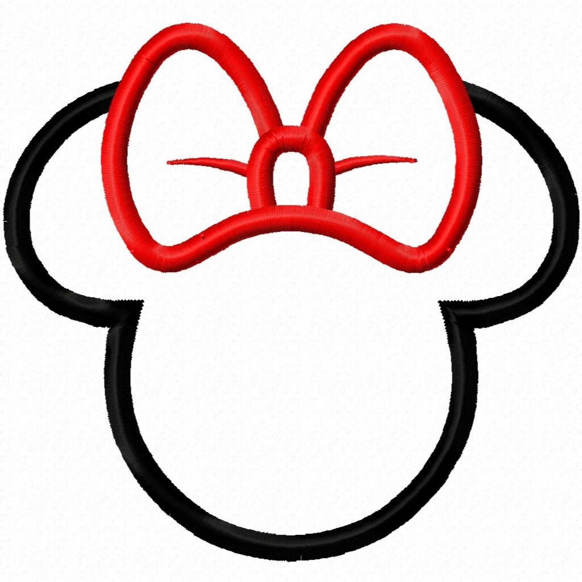 1920x1920 Minnie Mouse Bow Template