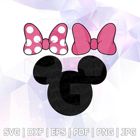 570x570 Svg Dxf Png Minnie Mouse Bow Clipart Vector Cut File Cricut Design