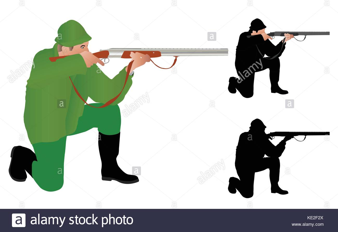 1300x892 Man Rifle Gun Illustration Stock Photos Amp Man Rifle Gun