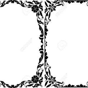 300x300 Silhouette Decorative Frames Cliparts Vectors Ornate Border Clip