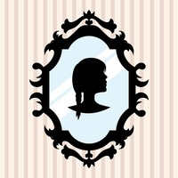 200x200 Silhouette Of A Girl In Mirror Frame Vector Image