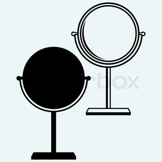 320x320 Silhoute Of Baroque Mirror Stock Vector Colourbox