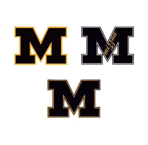 570x556 University Missouri Tigers Svg Mizzou Files For Silhouette Studio