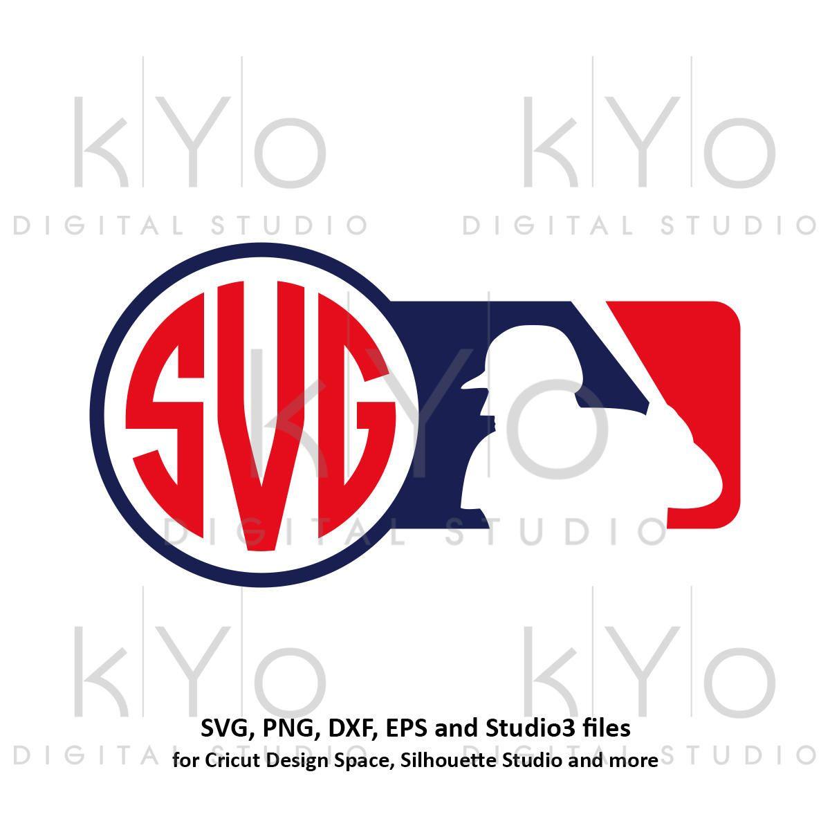 1200x1200 Baseball Svg Mlb Inspired Monogram Frame Svg Baseball Monogram Svg