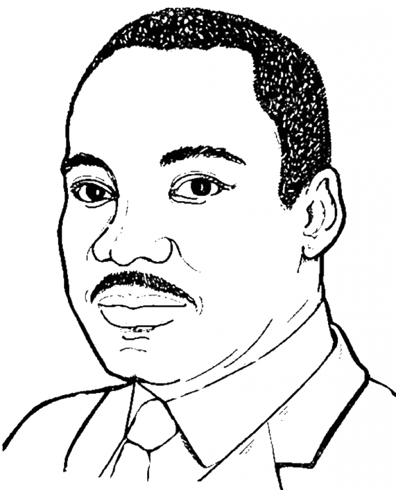 775x960 Martin Luther King Jr Coloring Page