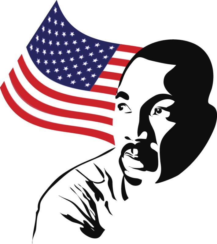 710x800 Martin Luther King Jr Black And White Clipart