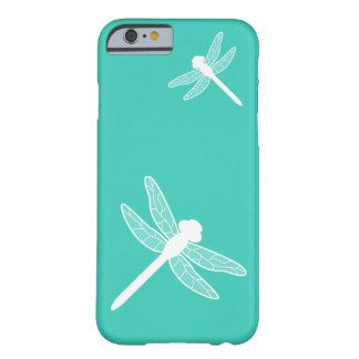 324x324 White Dragonfly Silhouettes On Turquoise Phone Case
