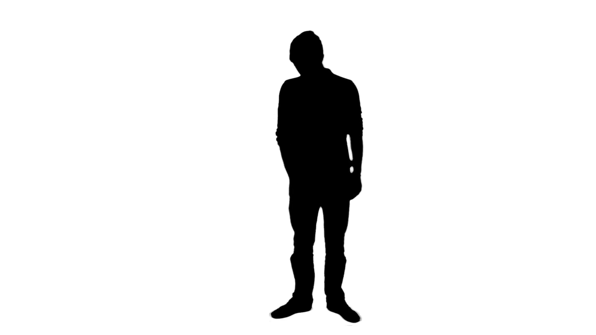 1920x1080 Incoming Call Mobile Phone Silhouette Man