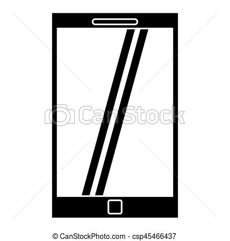 450x470 Smartphone Mobile Technology Silhouette Vector Illustration