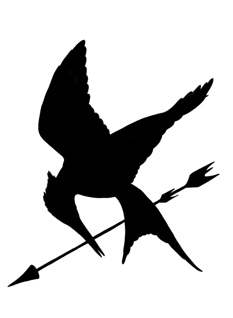 766x1044 Minimalist Mockingjay With Arrow By Allheartsgoboom