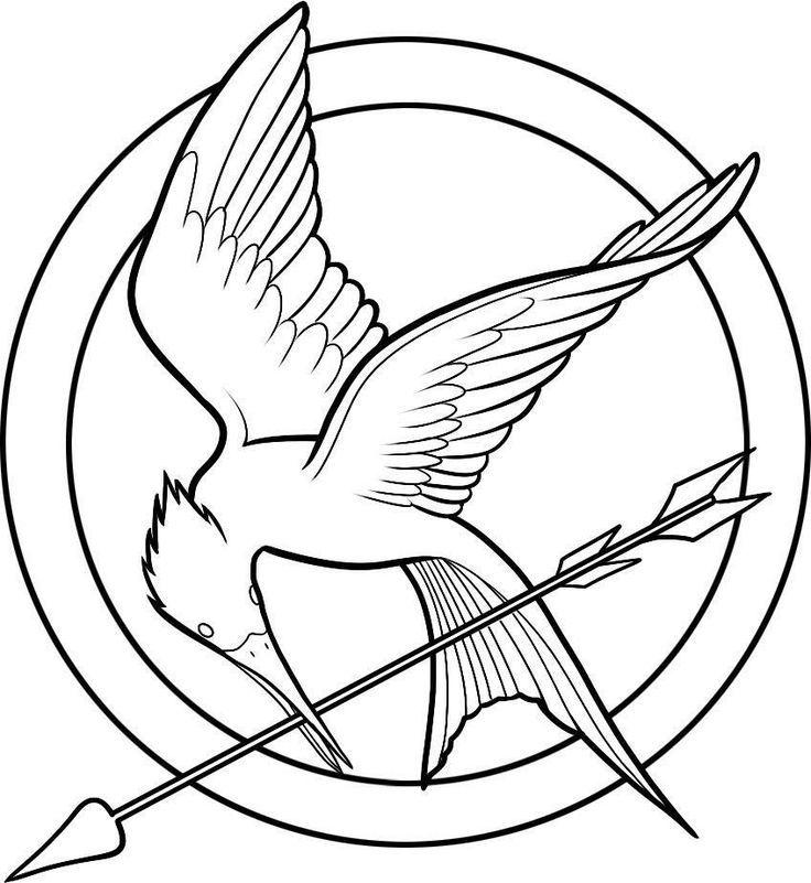 736x801 Hunger Games Logo Templates, Silhouettes, Stencils, Vectors