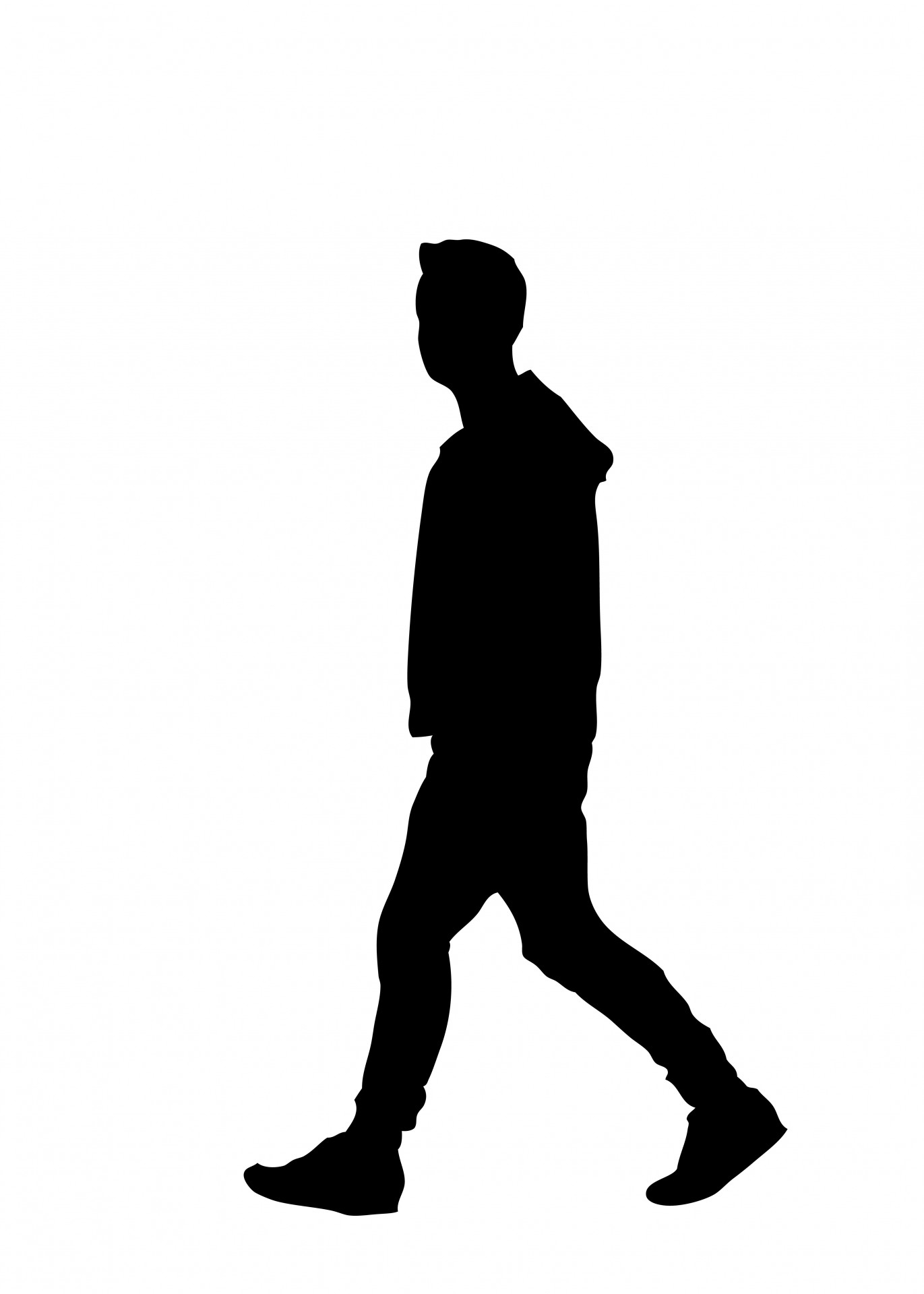 1371x1920 Man Walking Silhouette Clipart Free Stock Photo