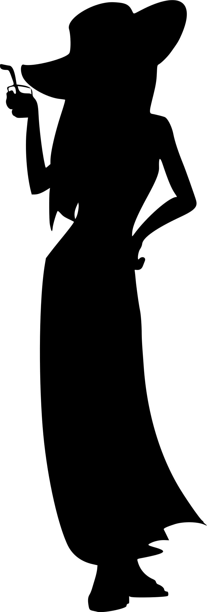 813x2400 Fashion Model Silhouette Icons Png