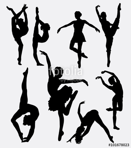 442x500 Tradition And Modern Dance Silhouette. Good Use For Symbol, Icon